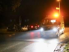 Fietsster geschept door auto in Eerbeek