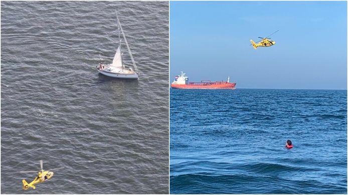 Zeiler Jean-Luc Ralet merkte de drenkeling op op zo'n 16 kilometer van de kust van Wassenaar.