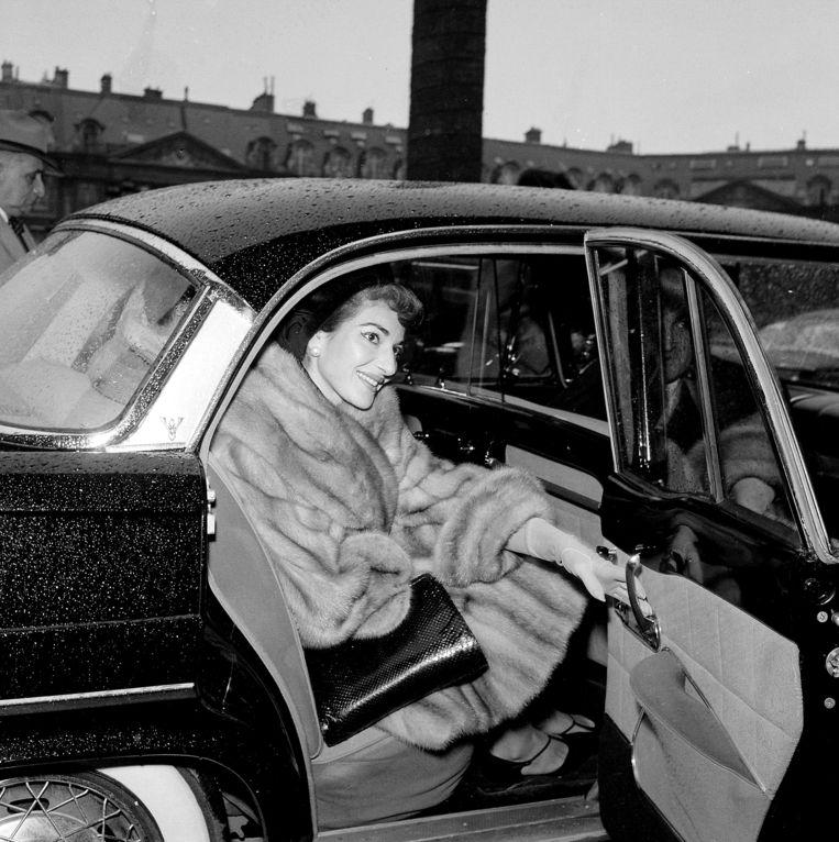 Maria Callas  in december 1958 in Parijs.  Beeld Claude Poirier, Roger-Violet , ArenaPAL