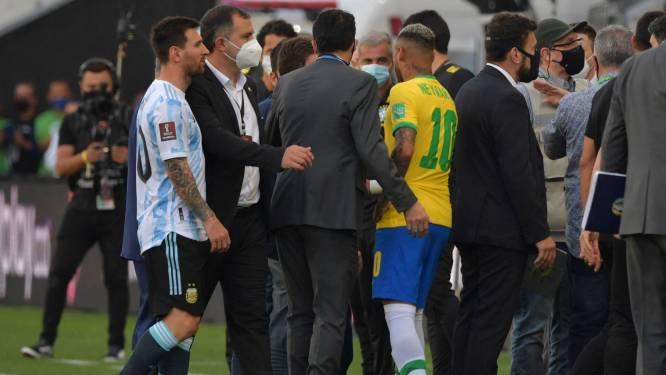Ongeziene taferelen: wedstrijd tegen Argentinië gestaakt nadat officials veld oplopen om 4 spelers in quarantaine te plaatsen - FIFA betreurt incident