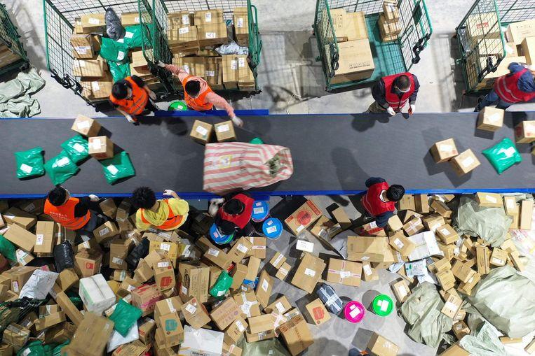 Onder andere e-commerce kende een geweldige boost tijdens de lockdowns. Beeld AFP