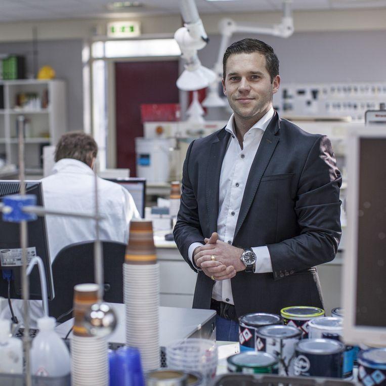 Export-manager Emile Stuy, de 30-jarige kleinzoon van de oprichter. Beeld Raymond Rutting / de Volkskrant
