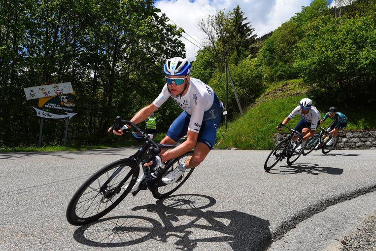Chris Froome in het Criterium du Dauphiné. Beeld Photo News