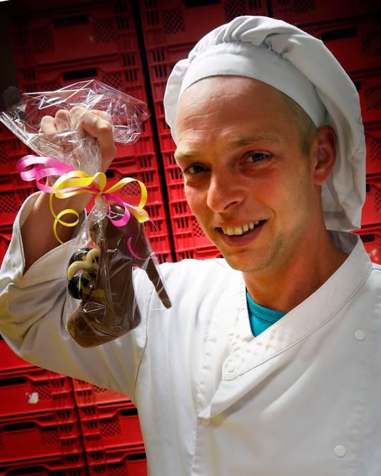 Chocolade schoenen met hoge hakken zijn populair, weet Stefan van Tilborg.