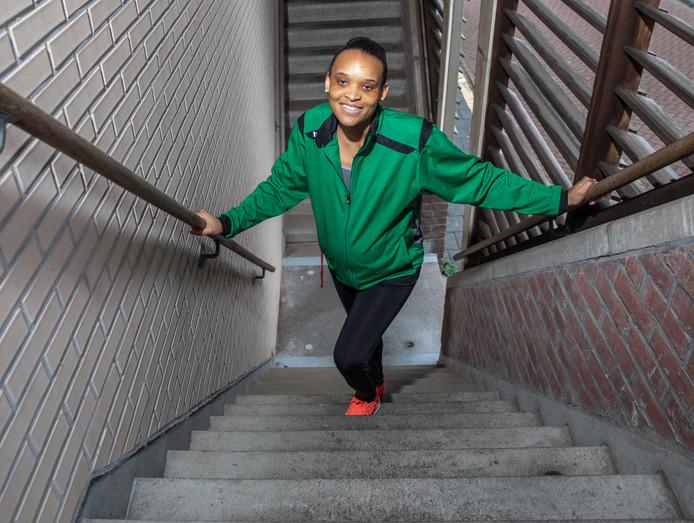 Suleima Luciano heeft een visuele beperking, maar die stond haar nooit in de weg om te gaan sporten.