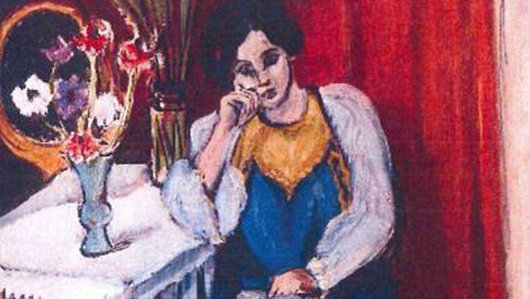 Een van de schilderijen. Henri Matisse: 'la Liseuse en Blanc et Jaune' Beeld ANP