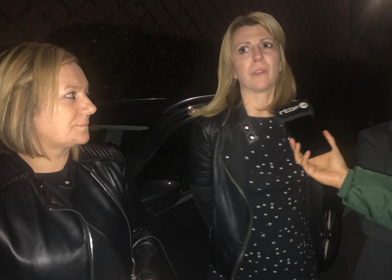 Muriel Targnion entourée des administratrices PS Nathalie Dubois et Laura Crapanzano