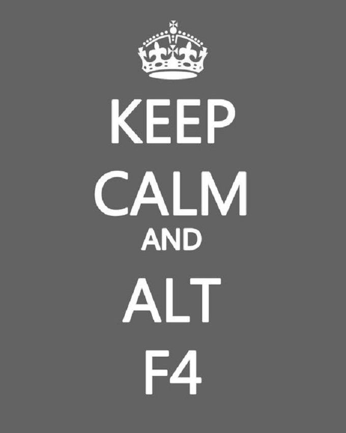 Met de combinatie Alt en F4 sluit je het programma waarin je werkt.