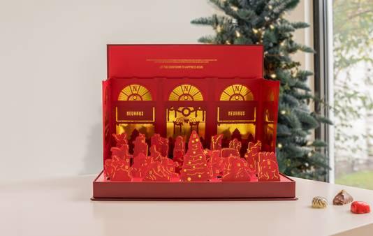 Le calendrier pop-up magique - 55 euros. Disponible dans les boutiques Neuhaus.