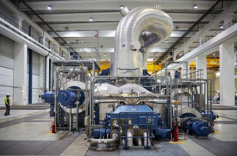 De elektriciteitscentrale van Uniper kort na de opening in 2016.  Beeld Phil Nijhuis