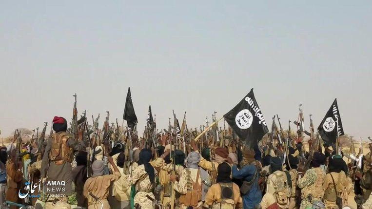 IS-strijders in de Sahel. Beeld AFP