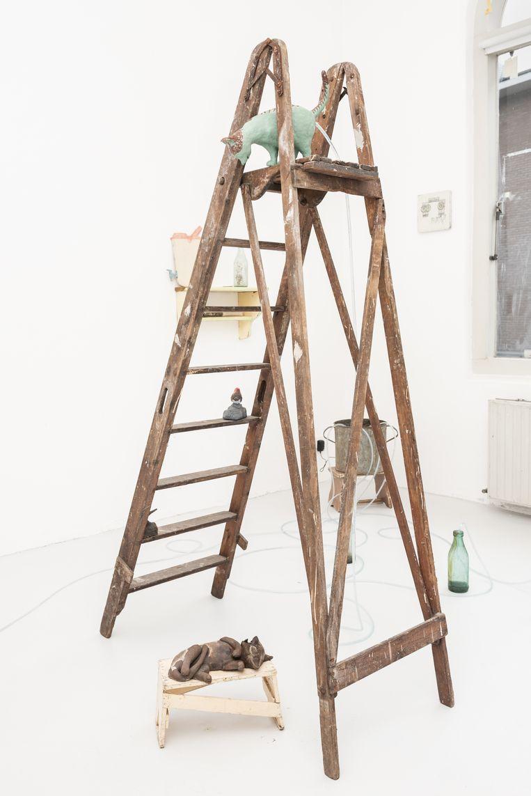 Atelier kunstenaar Arturo Kameya.  Beeld Simon Lenskens