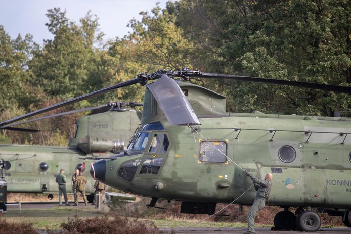 Chinooks tijdens oefening 'Falcon Autumn' in 2018.