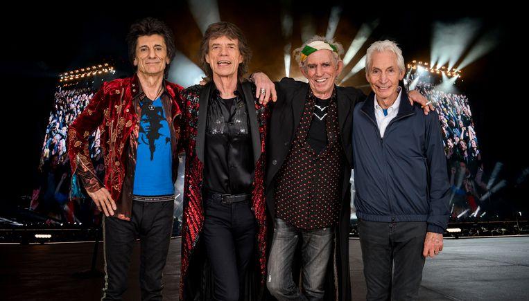 The Rolling Stones taken in 2017 in Paris.  Beeld Dave J Hogan/Getty Images