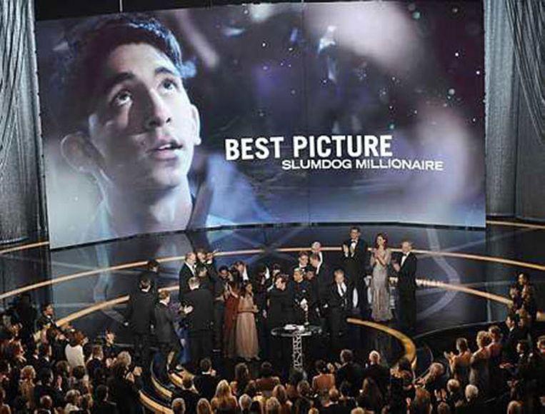 Slumdog Millionaire was de grote winnaar van de 81ste editie van de Oscaruitreiking. Foto AP /Mark J. Terrill Beeld