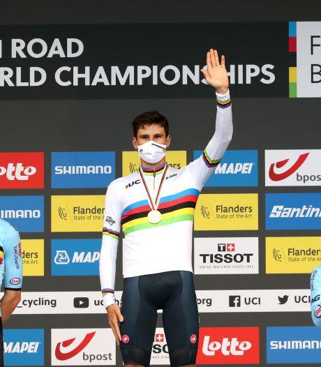 Ganna champion du monde du contre-la-montre, Van Aert et Evenepoel sur le podium