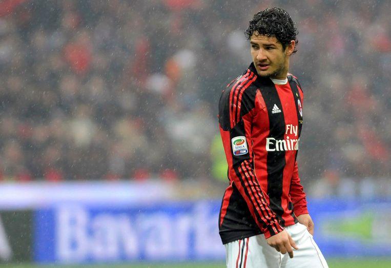 Pato in het shirt van AC Milan. Beeld ap