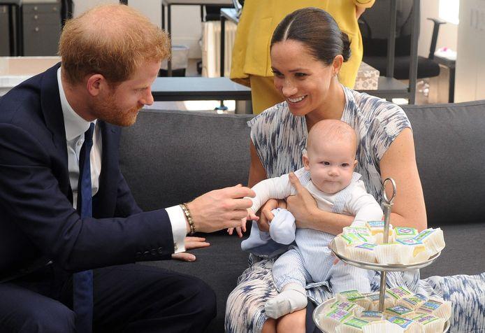Harry, Meghan, et leur fils Archie