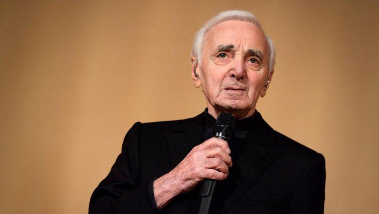 Chansonnier Charles Aznavour is overleden op 94-jarige leeftijd Beeld ANP