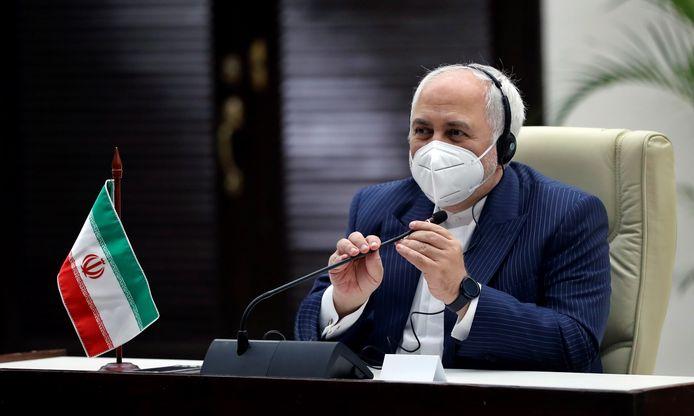 De Iraanse minister van Buitenlandse Zaken Mohammed Javad Zarif.