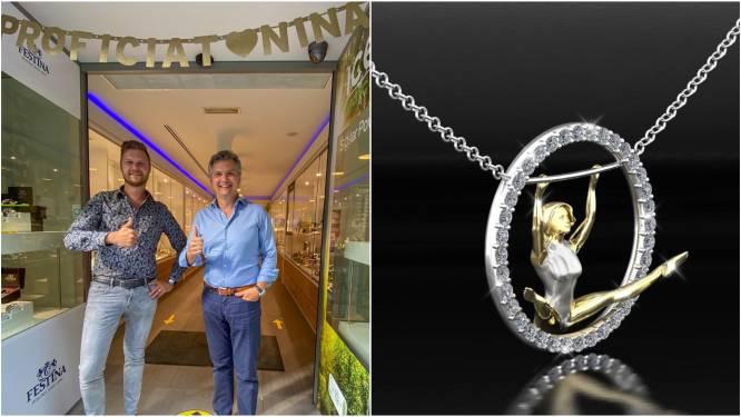 """Truiense Juwelier Willems ontwerpt gouden hanger voor 'golden girl' Nina Derwael: """"Dit móesten we vieren"""""""
