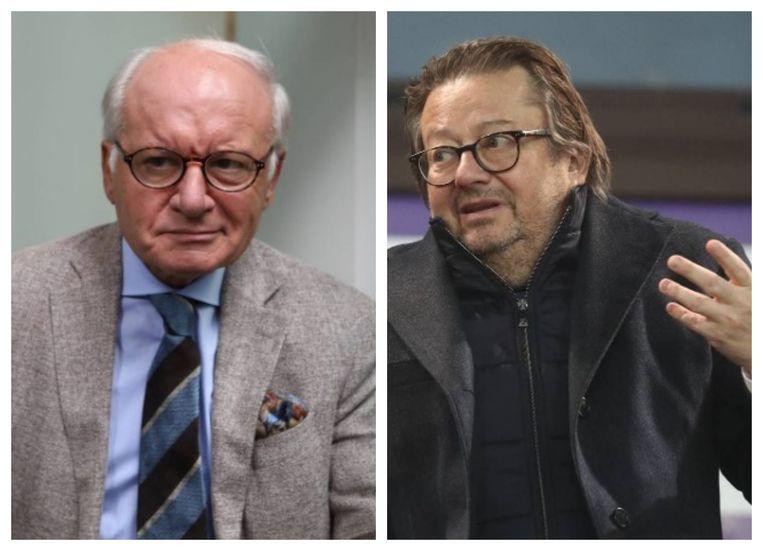 Daniel Spreutels en Marc Coucke. Beeld Belga
