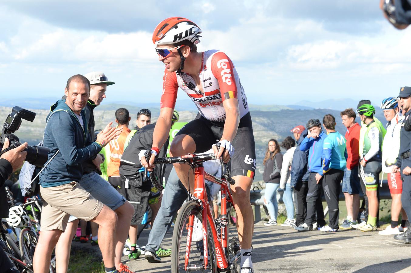 Van Goethem in actie in de Ronde van Spanje 2019, de enige grote ronde die hij reed.