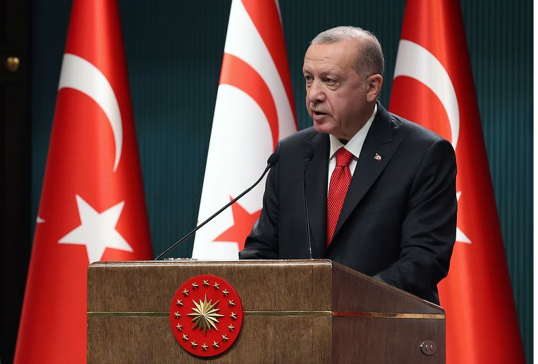 Turkse president Recep Tayyip Erdogan Beeld AP