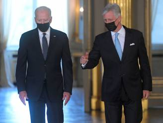 Koning Filip en premier De Croo ontvangen Joe Biden op het paleis
