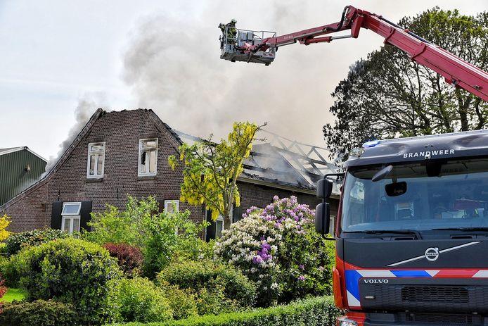 Brand in boerderij Esbeek.