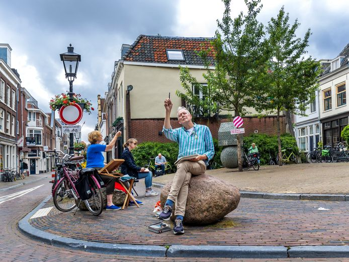 Arie Korpershoek in de Breedstraat, zondag 20 juni om 10.45 uur.