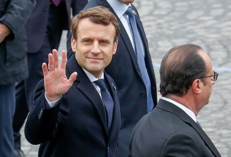 Kersvers president van Frankrijk Emmanuel Macron.  Beeld Photo News