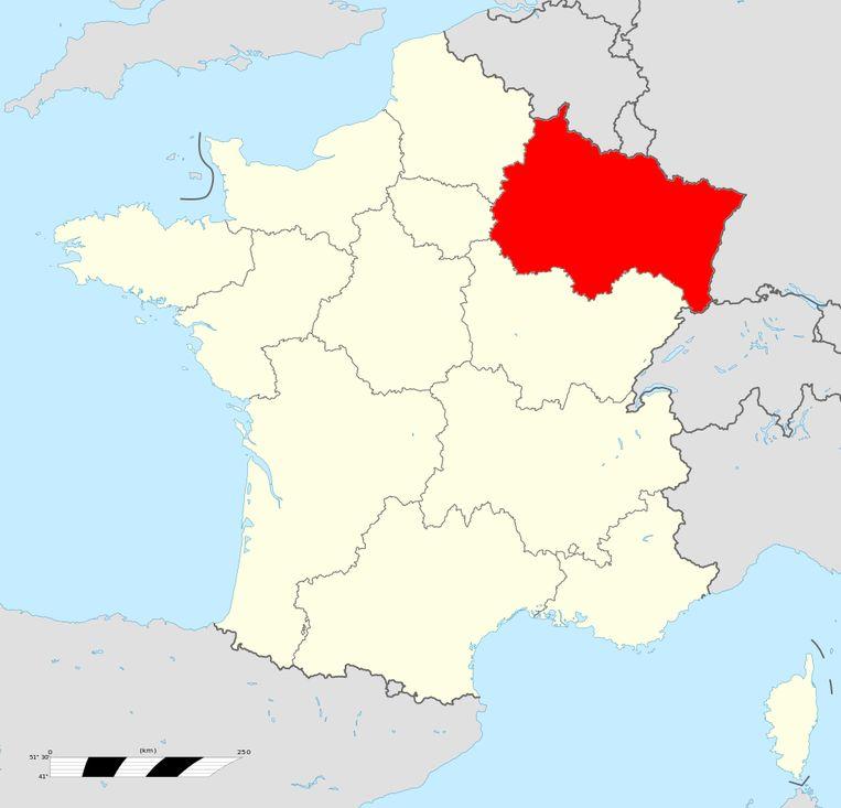 De regio Elzas-Champagne-Ardenne-Lorraine. Beeld Creative Commons 4.0