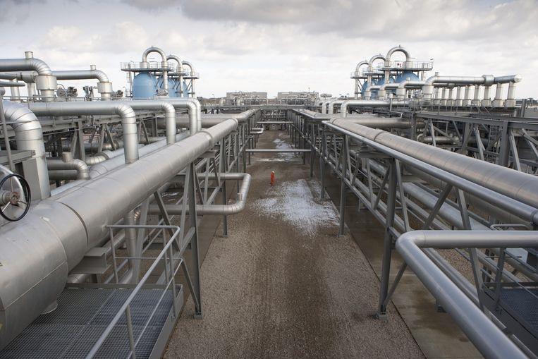 Gasopslag van gashandelaar GasTerra in het Drentse Langelo. Beeld Harry Cock / de Volkskrant