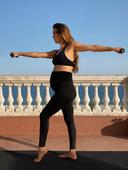 Olympisch atlete Ona Carbonell staat model voor de nieuwe collectie.