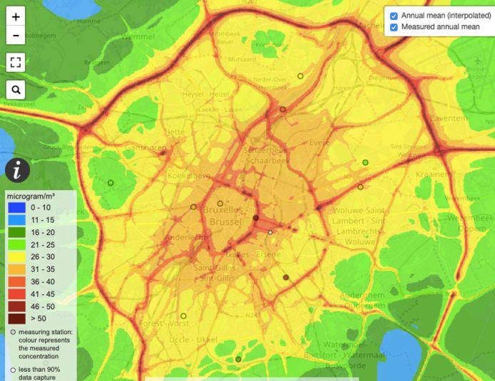 Luchtkwaliteit in Brussel