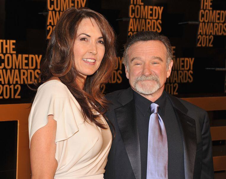 Susan Schneider en Robin Williams Beeld GETTY