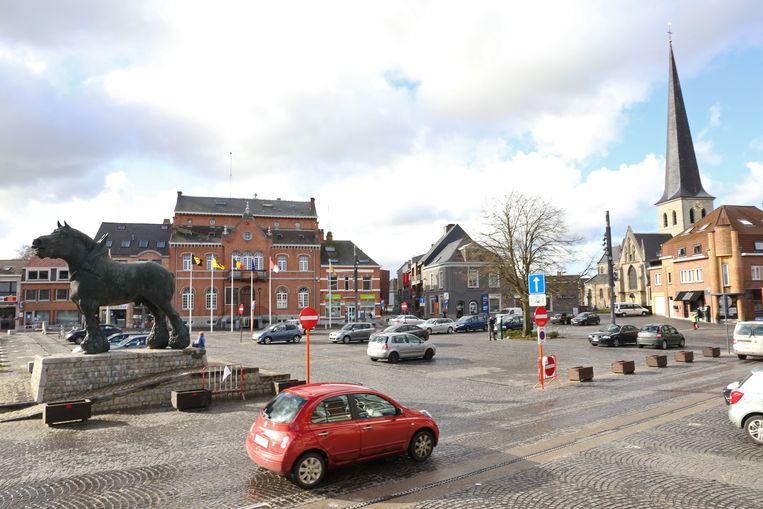 De Markt in Lennik.