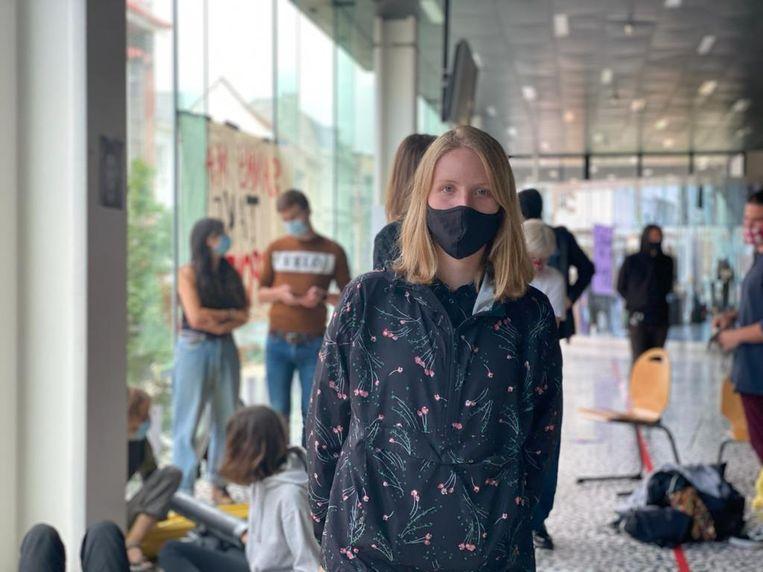 Febe Vandenbroucke (24), student Conflict and Development aan de UGent. Beeld Jill Dhondt