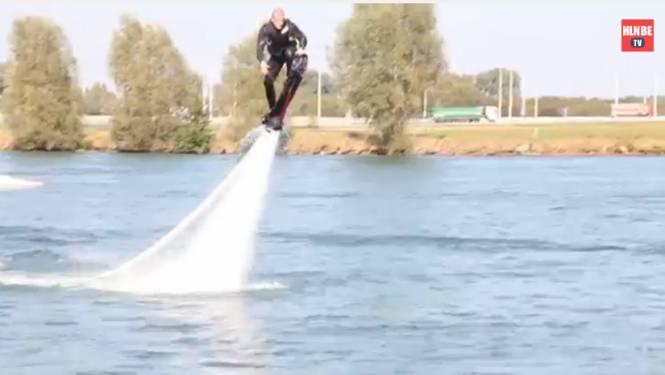 Nieuw in België: boven water vliegen met een hoverboard