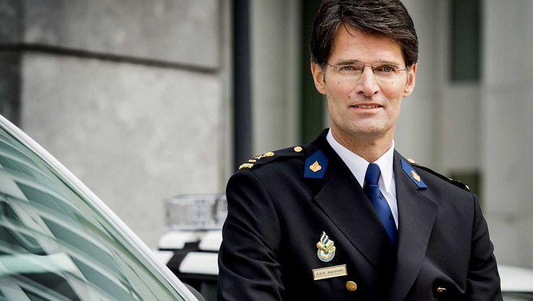 Erik Akerboom, nu nog de hoogste ambtenaar bij Defensie, vanaf volgende week korpschef bij de Nationale Politie. Beeld anp