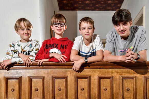 De broers Lander, Stan, Wout en Maarten Cassimon.