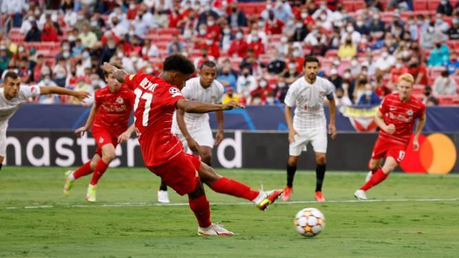 Record in Champions League: vier strafschoppen in eerste helft bij Sevilla - Salzburg
