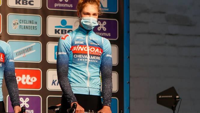 """Nathalie Bex kleurt de Ronde van Moeskroen: """"Geen goede positie in de eindsprint"""""""