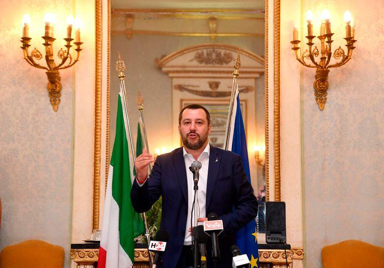 De Italiaanse vicepremier en minister van Binnenlandse Zaken, Matteo Salvini.