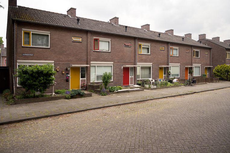 De Kaarderstraat in Eindhoven waar Pieter Geenen opgroeide. Beeld Els Zweerink