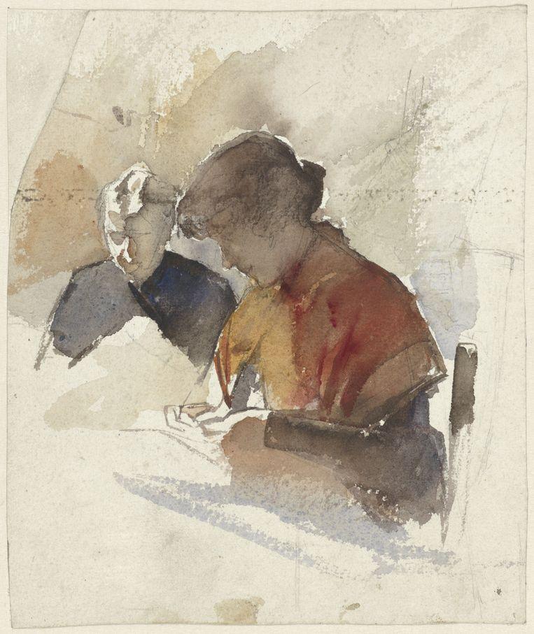 Jac. Van Looij, Twee naaiende vrouwen, Rijksmuseum Beeld Rijksmuseum