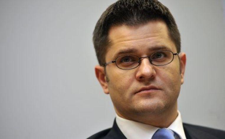 De Servische minister van buitenlandse zaken Vuk Jeremic. EPA Beeld