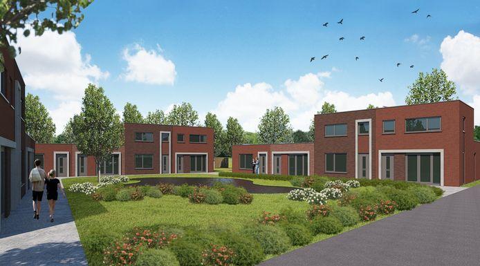 Woningbouwplan: twaalf huizen achter de oude pastorie van Stampersgat.