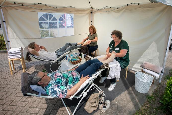 Even ontspannen tijdens de LCHF Belevingsmarkt in Leende.